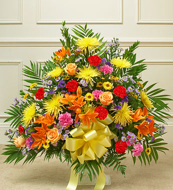 Bright Multicolor Sympathy Basket