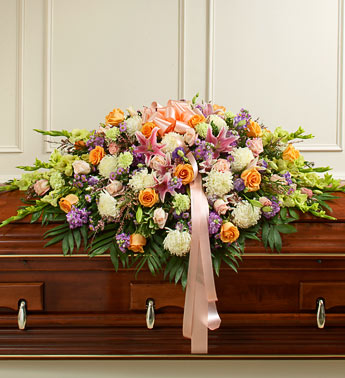 Mixed Pastel Casket Spray