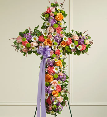 Colorful Mixed Flower Cross