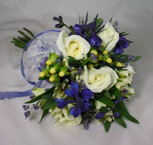 Belvedere prom gallery blue and white prom bouquet mightylinksfo