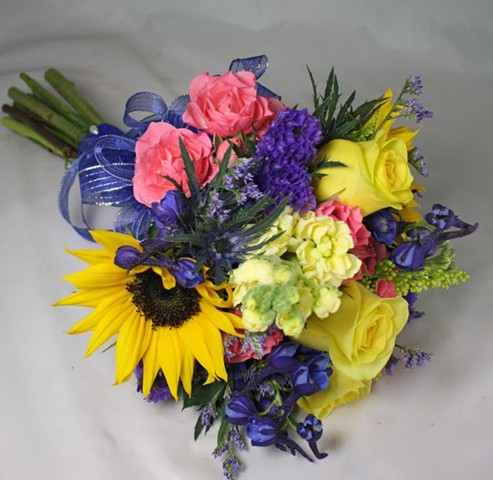 Belvedere prom gallery blue and yellow sunflower prom flowers mightylinksfo