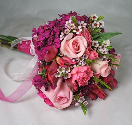 Pink Purple And Green Prom Flowers