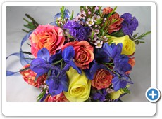 blue-orange-yellow-prom-flower-bouquet