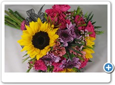 colorful-sunflower-prom-bouquet