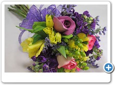 purple-and-yellow-prom-flowers